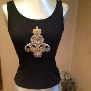 Tops - Embellished tank